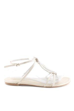 Riemchen-Sandalen goldfarben-silberfarben Elegant