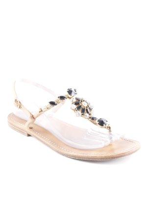 Sandales à lanière marron clair-noir élégant