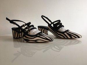 Riemchen-Sandalen im Animalprint