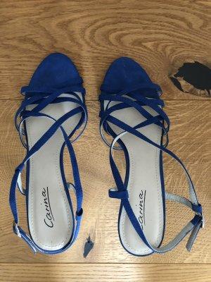 Riemchen-Sandalen kobaltblau,Größe 38