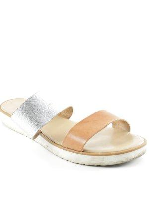 Riemchen-Sandalen mehrfarbig Glanz-Optik