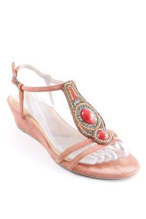 Riemchen-Sandalen mehrfarbig Hippie-Look