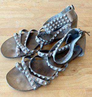 ASH Sandales à lanière gris brun-argenté cuir