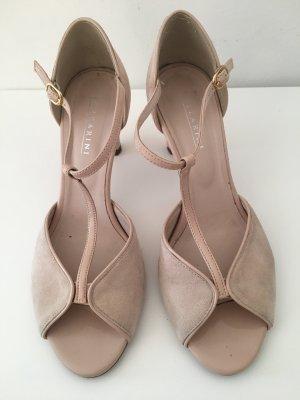 lazzarini Sandalo con tacco alto e lacci a T multicolore