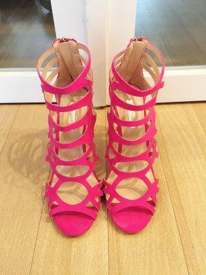Riemchen-Sandalen Pink