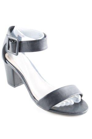 Sandales à lanière noir style d'affaires