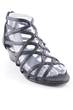 Sandalen met bandjes zwart casual uitstraling