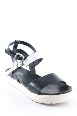 Riemchen-Sandalen schwarz Casual-Look