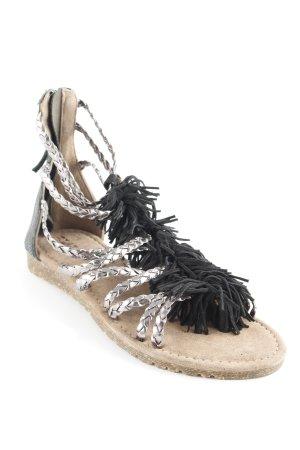 Sandalo con cinturino nero-argento stile stravagante