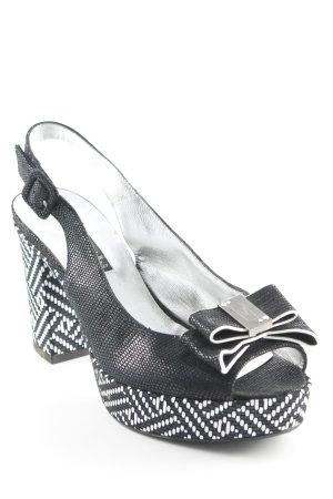Sandales à lanière noir-argenté style mode des rues