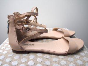 Guess Sandalen met bandjes room-licht beige Leer