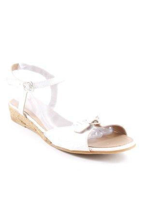 Sandalen met bandjes wit-beige casual uitstraling
