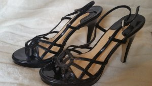 Graceland Strapped High-Heeled Sandals black synthetic material