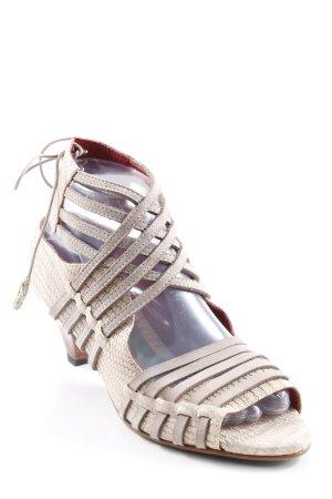 Sandalias de tacón de tiras estampado de animales elegante