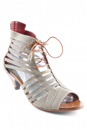 Strapped High-Heeled Sandals cognac-coloured-green grey animal print