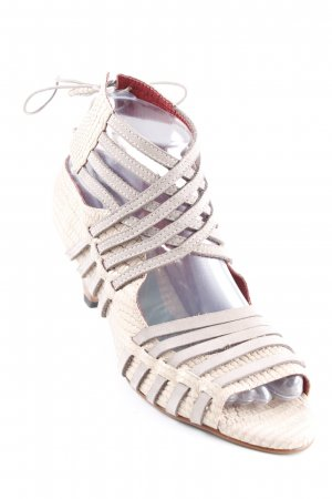 Strapped High-Heeled Sandals cream-light grey casual look