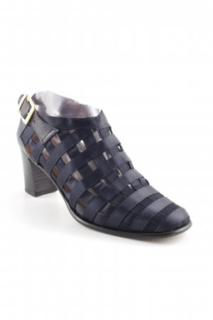 Strapped High-Heeled Sandals dark blue elegant