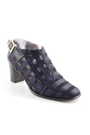 Sandalias de tacón de tiras azul oscuro elegante