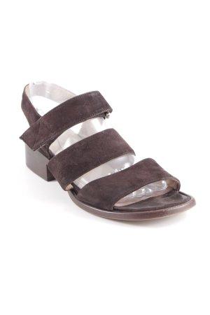 Riemchen-Sandaletten dunkelbraun Casual-Look