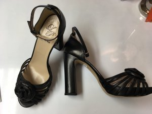 Vera Pelle Strapped High-Heeled Sandals black leather