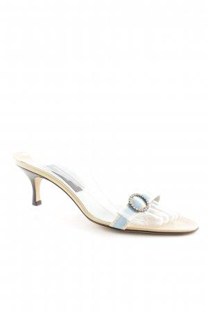 Strapped High-Heeled Sandals light blue-beige elegant