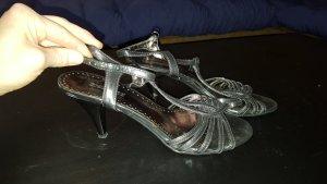 Riemchen Sandaletten mit Absatz silber 37 Graceland