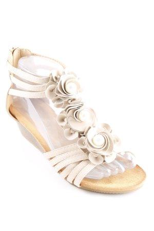 Riemchen-Sandaletten nude Dekoelemente