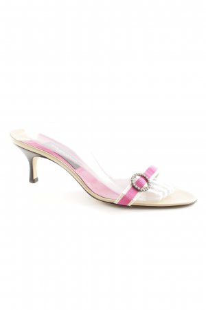 Strapped High-Heeled Sandals pink-beige elegant
