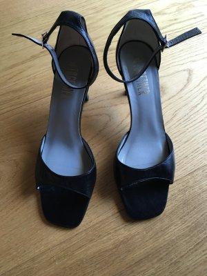 Riemchen Sandaletten - schwarz