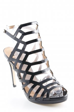 Strapped High-Heeled Sandals black casual look