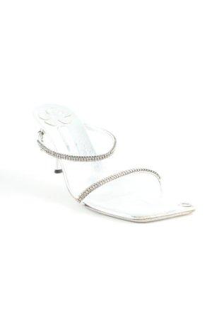 Sandalo con cinturino e tacco alto argento elegante