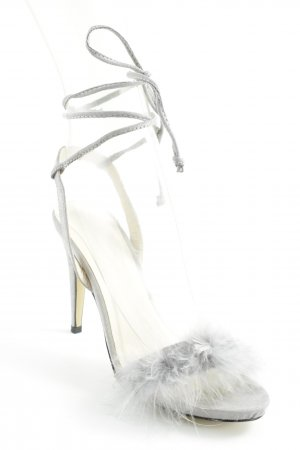 Strapped High-Heeled Sandals silver-colored simple style