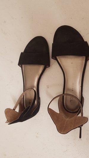 Tamaris Ballerines à lacets noir cuir