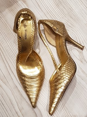 Riemchenpumps in Gold