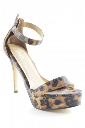 Strapped pumps leopard pattern animal print