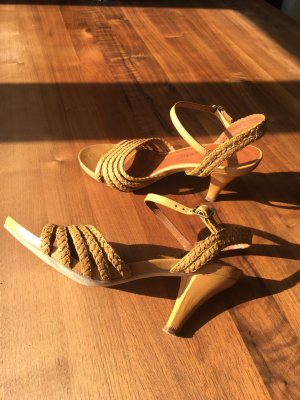 Riemchenpumps Retro-Look - Sandalen - echtes Leder