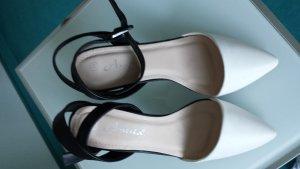 Sandaletto con tacco alto bianco-nero