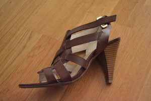 Etienne Aigner Strapped Sandals brown leather