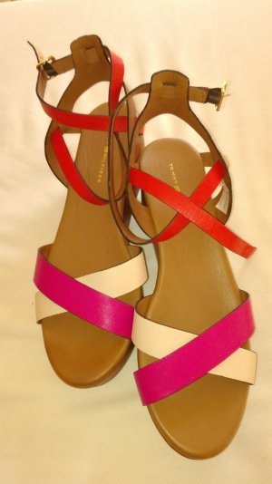 Tommy Hilfiger Wedge Sandals multicolored leather