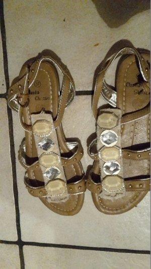 Claudia Ghazzani Sandalen met bandjes beige-room
