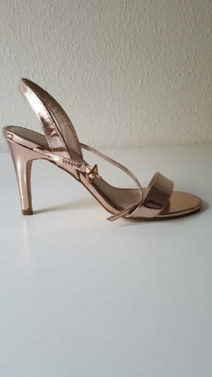 Kiomi Strapped High-Heeled Sandals rose-gold-coloured