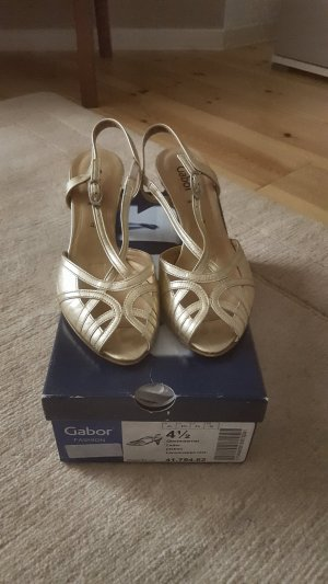 Gabor High Heel Sandal gold-colored leather