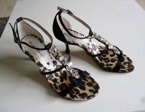 Beverly Feldman Strapped High-Heeled Sandals black