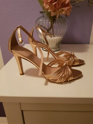 Esprit Strapped High-Heeled Sandals gold-colored
