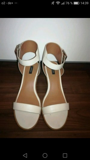 Mango Strapped High-Heeled Sandals white-natural white