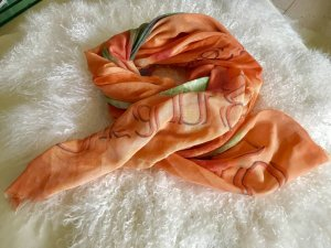 Riesen Tuch Schal orange