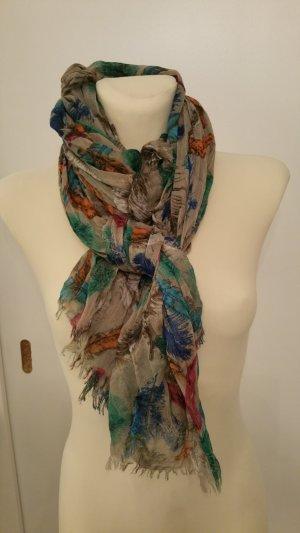 Écharpe multicolore tissu mixte