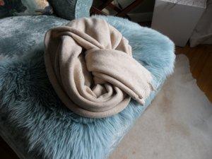 Riesiger Schal/Tuch Plaid OPUS 90x235 cm, creme/beige kuschelig, NEU