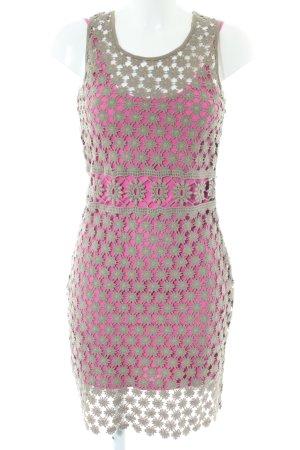 Rifle Minikleid pink-hellgrau Street-Fashion-Look