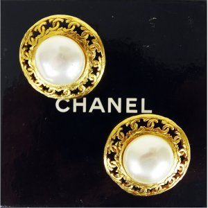 Chanel Earclip rose-gold-coloured